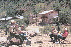 Scouters relaxing at Buffalo Scout Ranch