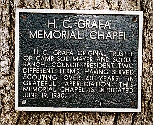 Plaque dedication of Chapel to Grafa
