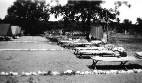 Cots at camp