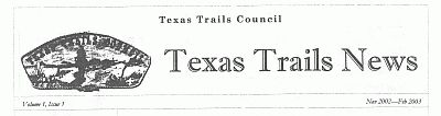 Masthead of Texas Trails News