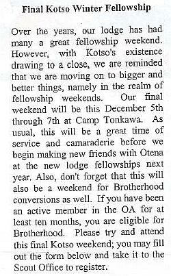Final OA Winter Fellowship 2003