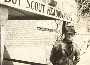 First Scout Office in Basement of County Courthouse